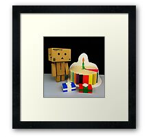 Danbo Birthday Framed Print