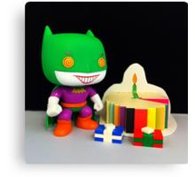 Joker/Batman Birthday Canvas Print