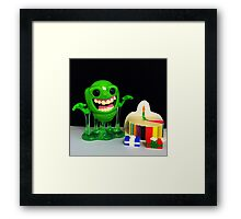 Slimer Birthday Framed Print