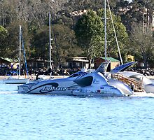 Earthrace at Batemans Bay by Brett Keith