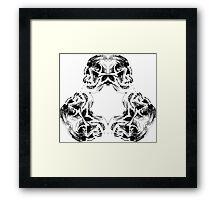 Meeting of Skulls Framed Print