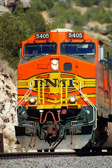 BNSF 5405 works thru Abo Canyon by JBoyer