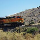 BNSF 5474 struggles up a high desert grade by JBoyer