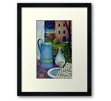 once upon a time there was a plum tree... Framed Print
