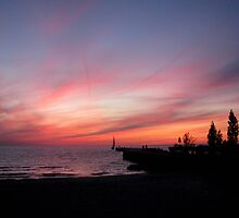 Red Sky At Night by Greta  McLaughlin
