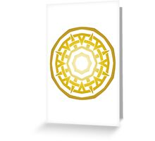 Wheel of Swords - Gold Greeting Card