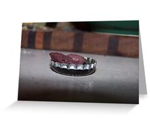 Pits In A Bottle Cap Greeting Card