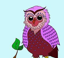 Purple Owly  by MissBMuffin