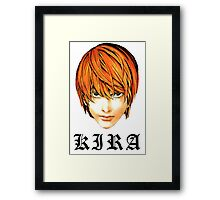 Kira - Death Note Framed Print
