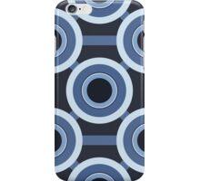 Blue CIrcles Pattern iPhone Case/Skin