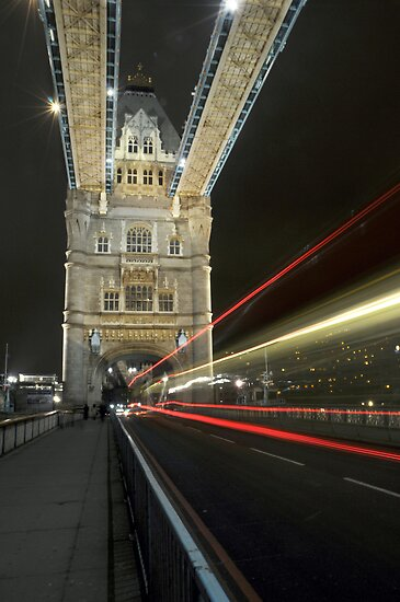 tower bridge bus by jon  daly