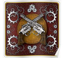 Clockwork Cowboy (Red) Poster