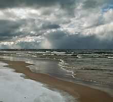 Winter Storm Over the Lake by JKunnen