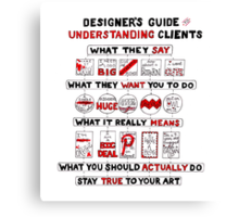 Designer's Guide to Understanding Clients Canvas Print
