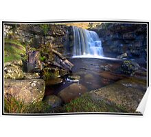 East Gill Waterfall Poster
