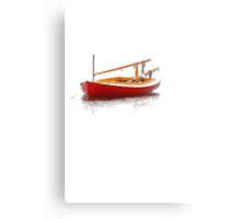 Red Cat Boat Canvas Print