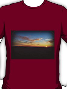 Hilltop Winter Sunset T-Shirt