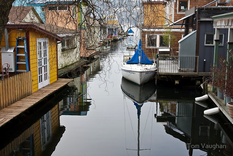 Houseboat Alley by Tom Vaughan