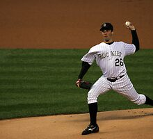 Jeff Francis Colorado Rockies Pitcher by Judson Joyce