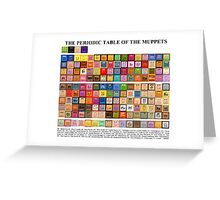 Periodic Table of the Muppets Greeting Card