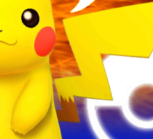 Super Smash Bros - Pikachu Sticker