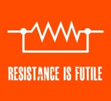 Resistance is futile - White foreground Kids Clothes