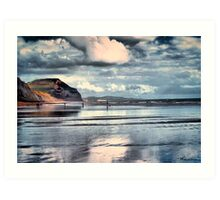 Low Tide at Charmouth Art Print