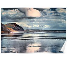 Low Tide at Charmouth Poster