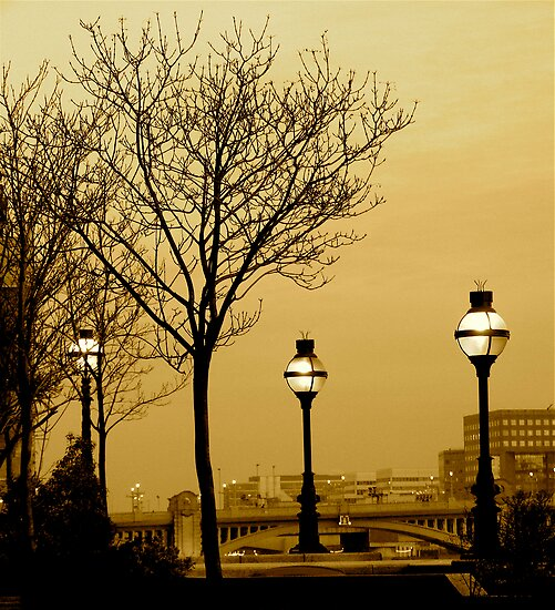 SEPIA DUSK IN LONDON by Scott  d'Almeida