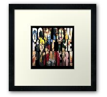 Row row fight the power ! 2 Framed Print