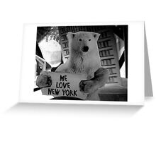 me love new york Greeting Card