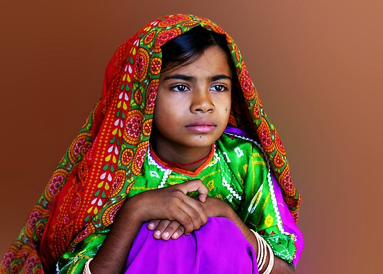 AHIR GIRL - INDIA by Michael Sheridan
