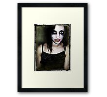 She will eat your brains and gain your knowledge. Framed Print