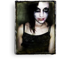 She will eat your brains and gain your knowledge. Canvas Print