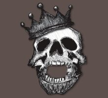 Crown Skull Tee (shadow) by BluAlien
