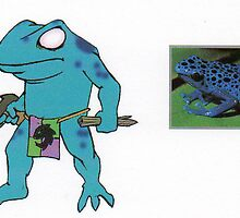 Blue Poison Dart Frog by johnny jenkins