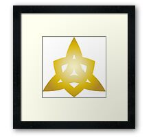 Triangle of Gold Framed Print