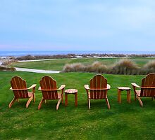 Chairs at the Eighteenth Green by Catherine Sherman