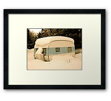 BLUE CARAVAN Framed Print