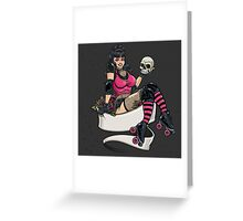 Death Skate Greeting Card