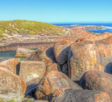 Elephant Rocks Panorama - HDR - Denmark - WA Sticker