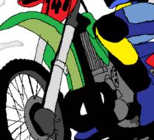 death by sport dirt bike jumping Sticker