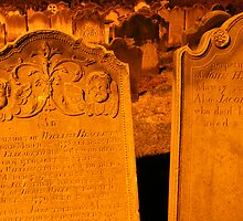 Whitby abbey gravestones by JoCr