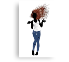 Girl in Casual Style  Canvas Print