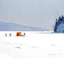 Ice Fishing Off Boon Island by Douglas Hunt