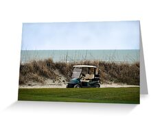 Golf Cart, The Ocean Course, Kiawah Island, South Carolina Greeting Card