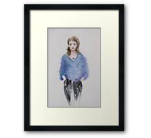 Lapin sweater Framed Print