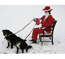 NEWSFLASH !! -  REVISITED - CONFIRMED -SANTA HIT BY CREDIT CRUNCH !!!! Photographic Print