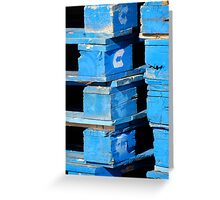 Blue Pallets Greeting Card