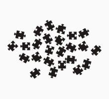 Black jigsaw puzzle by Designzz